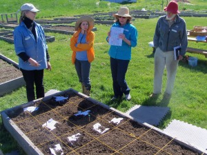 Jean Olsen, Master Gardener, lead our May Workshop on Square Foot Gardening.