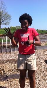 Akilah's first gardening day