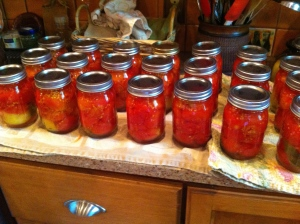 21 pints of canned tomatoes
